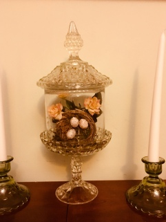 Terrarium from a pedestal candy dish and vase